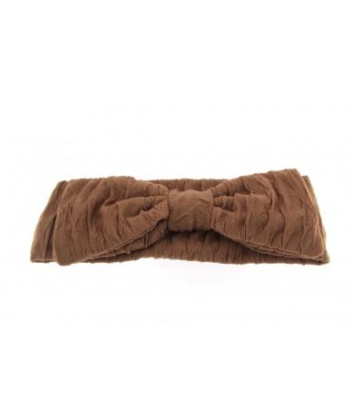 fascia per capelli elegante con fiocco colore beige