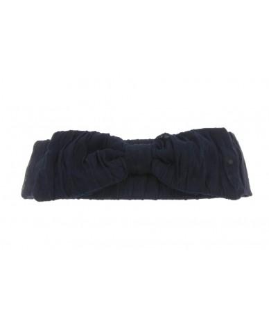 fascia per capelli elegante con fiocco colore blu