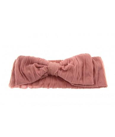 fascia per capelli elegante con fiocco colore rosa