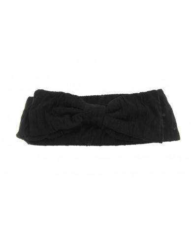 fascia per capelli elegante con fiocco colore nero