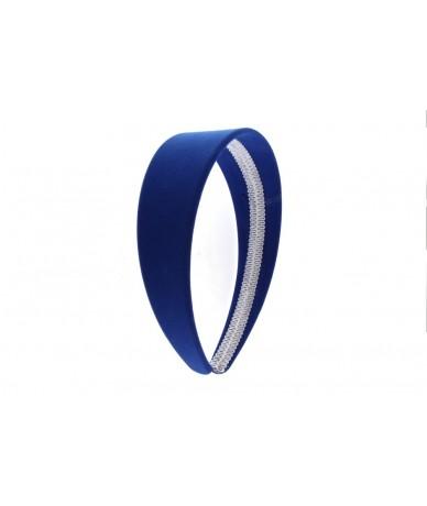 cerchietto per capelli fascia larga 4 cm colore blu