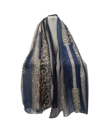foulard donna colore blu