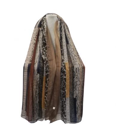 foulard donna colore marrone