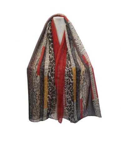 foulard donna colore rosso